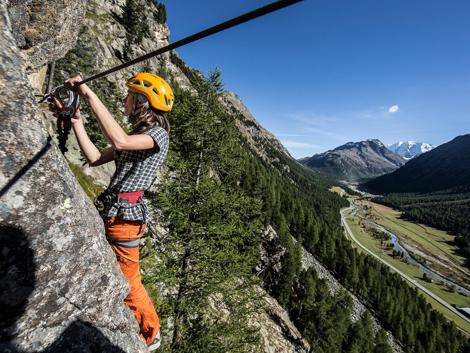 Klettersteig Pontresina : Klettersteige la resgia bergsteigerschule pontresina