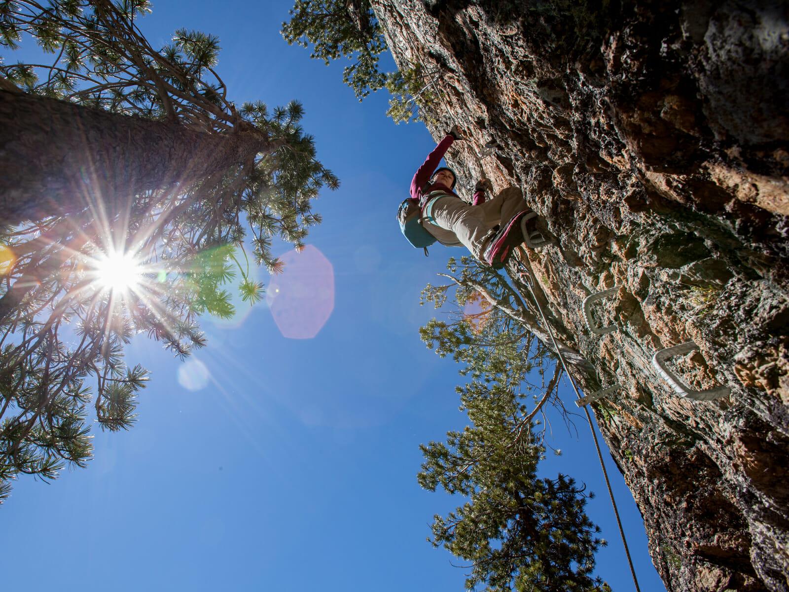 Klettersteig La Resgia : Klettersteige la resgia bergsteigerschule pontresina