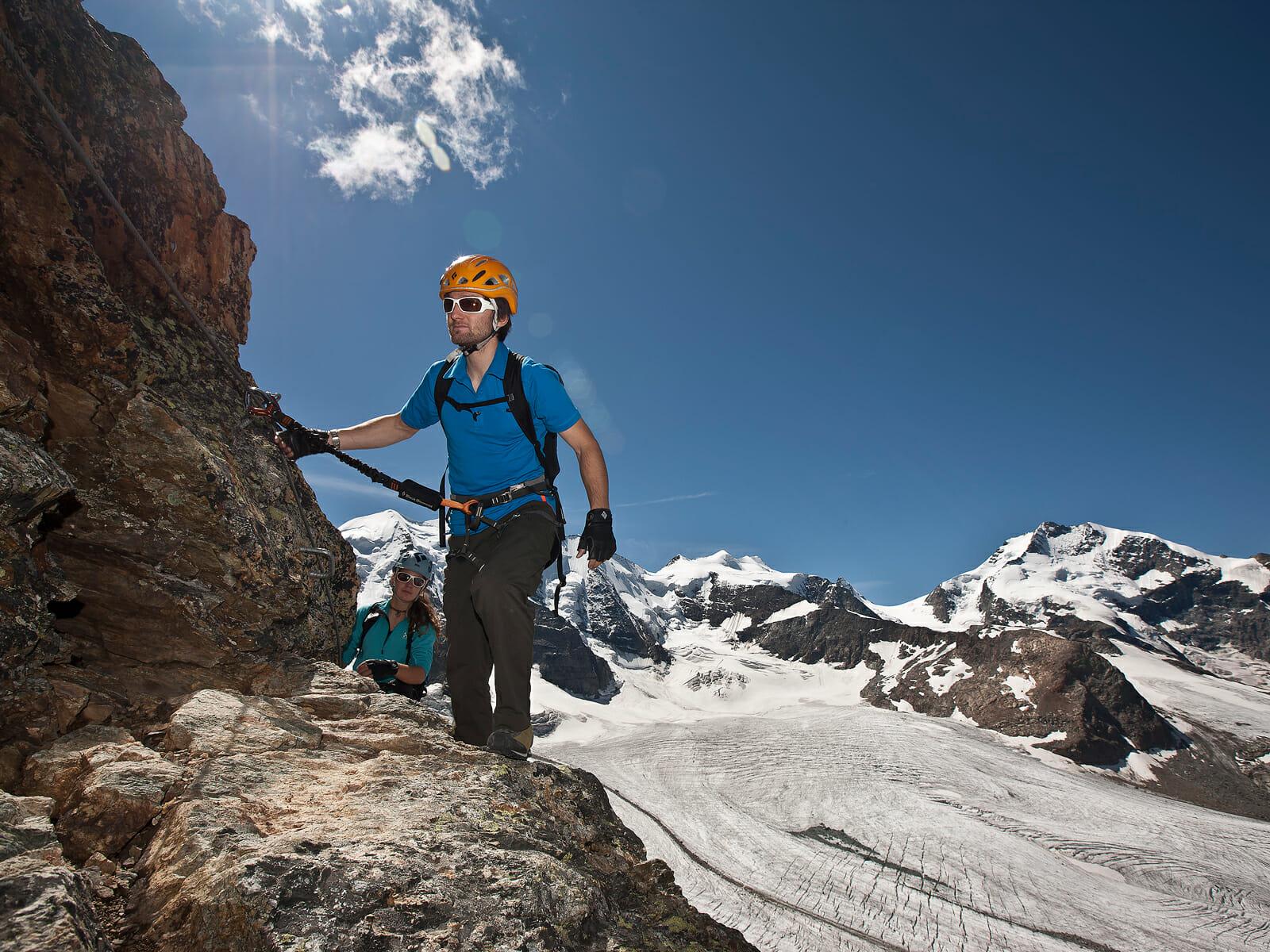 Klettersteig Piz Trovat : Klettersteig piz trovat i bergsteigerschule pontresina